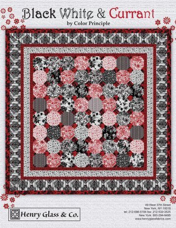 Black White & Currant - 3 Dudes Quilting
