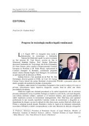 Full Text in PDF - Romanian Journal of Legal Medicine
