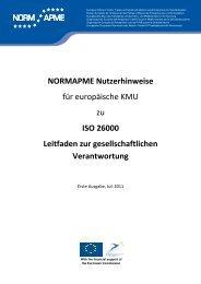 NORMAPME Nutzerhinweise für europäische KMU zu ISO 26000 ...