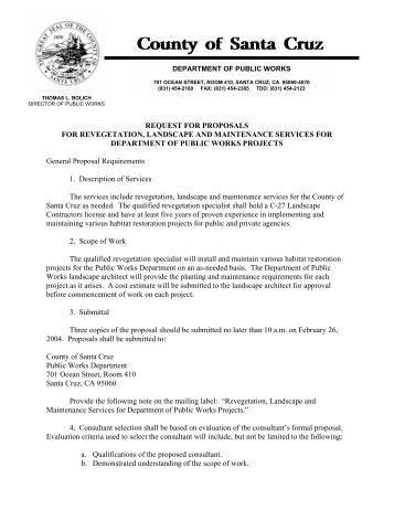 Request For Proposal To Provide Landscape Maintenance ... - SAFCA