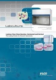 Laminar Flow Clean Benches, Horizontal and Vertical - Esco