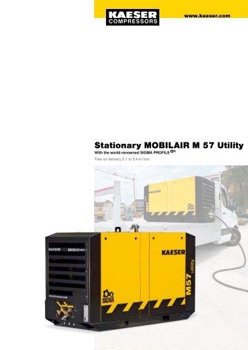 M 57 Utility 5.1–5.4 m³/min 180–190 cfm - Kaeser Compressors