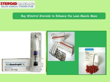 Buy Winstrol Steroids to Enhance the Lean Muscle Mass