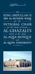 AL-GHAZALI'S - The Royal Islamic Strategic Studies Centre