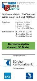 Kurzschiessplan Gewehr 50 Meter - ZHKSF-2012