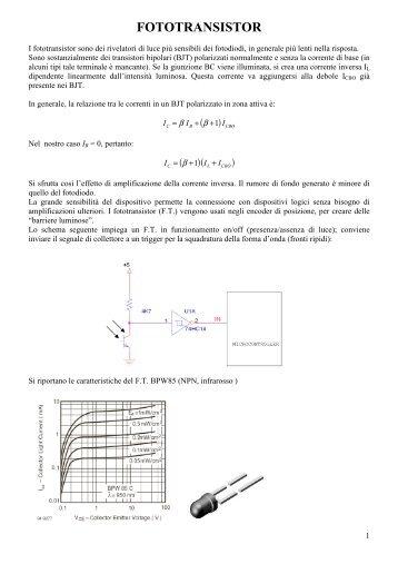 FOTOTRANSISTOR e optoelettronica - ITIS G. Galilei