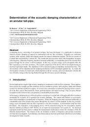 Determination of the acoustic damping characteristics of an annular ...