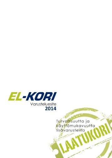EL-Kori Varusteluesite 2014