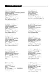 LIST OF PARTICIPANTS - CDTL - National University of Singapore