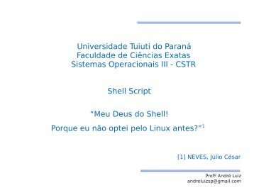 Shell Script - Gerds - Universidade Tuiuti do Paraná