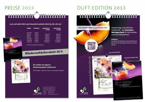 Hochwertige und exklusive Duftdrucke - Duftkalender