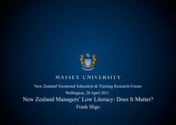 New Zealand Managers' Low Literacy: Does It Matter? - Industry ...