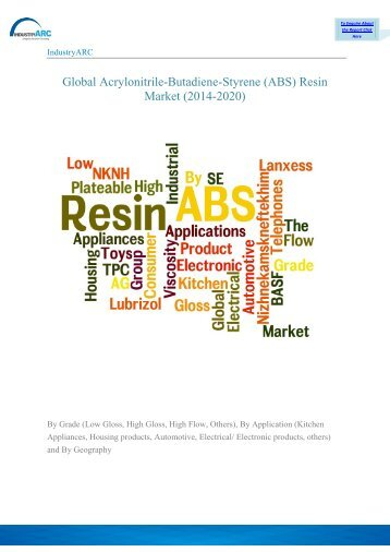 Global Acrylonitrile-Butadiene-Styrene (ABS) Resin Market (2014-2020)