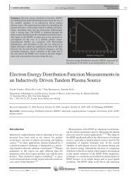 Electron Energy Distribution Function Measurements in an ...