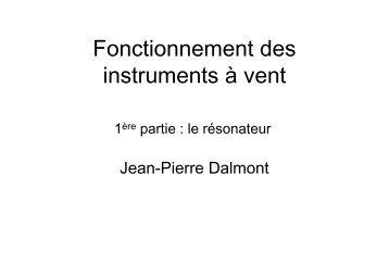 Fonctionnement des instruments à vent \(intro + résonateur\)