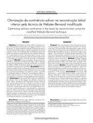 Otimização da continência salivar na reconstrução labial ... - ABCCMF