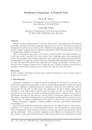 Membrane Computing - European Academy of Sciences