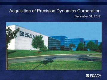 Investor Conference Call Presentation - Brady Corporation