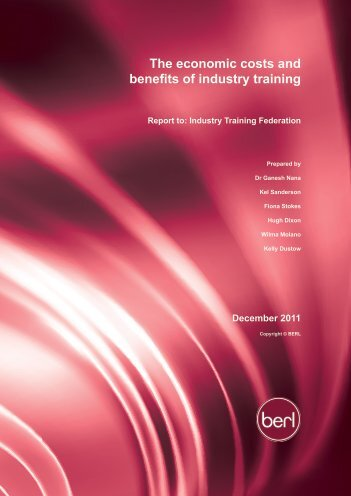 The economic costs and benefits of industry training
