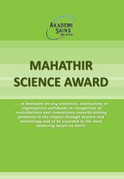 MAHATHIR SCIENCE AWARD - European Academy of Sciences