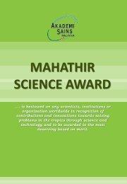 MAHATHIR SCIENCE AWARD - European Academy of Sciences