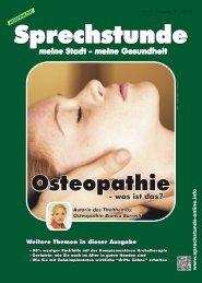 Sprechstunde Nr. 2 - Ausgabe IV / 2012