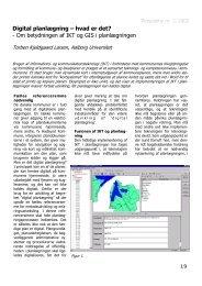 Digital planlægning – hvad er det? - Om betydningen af IKT og GIS ...