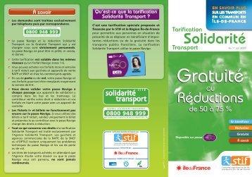 Guide tarification Solidarité transport - Ville de Stains