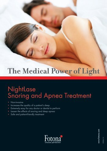 """Nightlase"" leaflet - Laser Treatment Clinics"