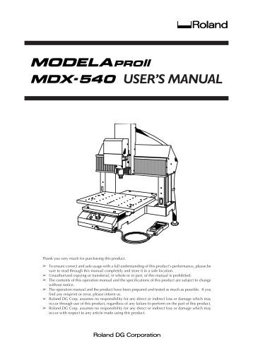 Roland User Guides
