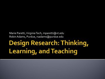 2009 National Survey - Virginia Tech Engineering Communications ...