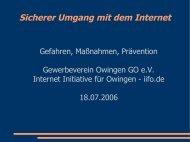 Sicherer Umgang mit dem Internet - Groh Datentechnik