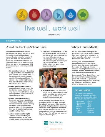 Avoid the Back-to-School Blues Whole Grains Month