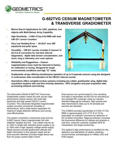 g-882tvg cesium magnetometer & transverse     - Alphageofisica