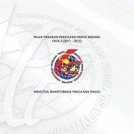 PELAN TINDAKAN PENGAJIAN TINGGI NEGARA FASA 2 (2011 ...