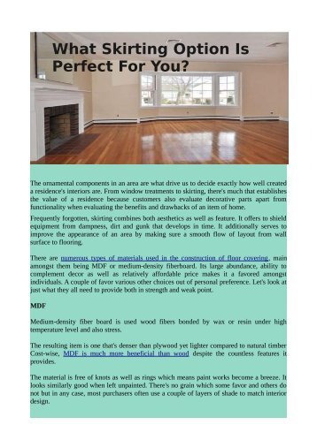 What Skirting Option Is Perfect For You?