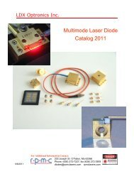 Multimode Laser Diode Catalog 2011 - RPMC Lasers