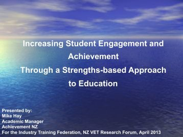 Increasing Student Engagement and Achievement Through a Strengths ...