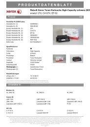 Xerox Toner-Kartusche (IL) schwarz HC (003R95921, 625L91112)