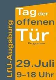 Tag der offenen Tür am LfU-Augsburg am 29. Juli von 9 bis 18 Uhr