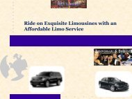 Ride on Exquisite Limousines with an Affordable Limo Service