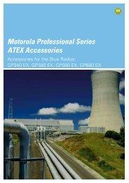Motorola Professional Series ATEX Accessories - BPG ...