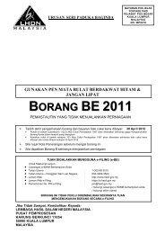 BE 2011 - Lembaga Hasil Dalam Negeri