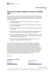 Delårsrapport Q4 samt bokslut 2007, 28 januari