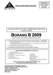 B 2009 - Lembaga Hasil Dalam Negeri