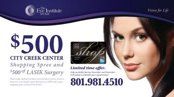 500off LASIK Surgery $500off LASIK Surgery - The Eye Institute