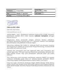 PUNB Lulus RM1.6 Bilion JOHOR BAHRU 1 April ... - TERAJU