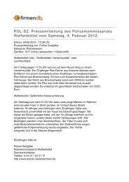 POL-SZ: Pressemitteilung des Polizeikommissariats ... - Firmendb
