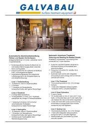 Automatische Aluminiumbehandlung, Färben und ... - GALVABAU AG