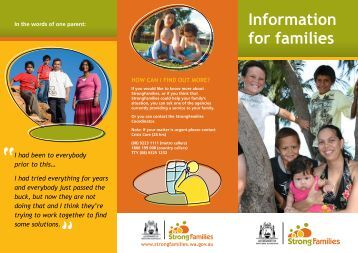 Information for Families Brochure - Strong Families